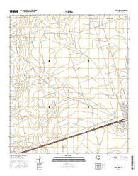 Pyote West Texas Current topographic map, 1:24000 scale, 7.5 X 7.5 Minute, Year 2016