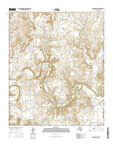 Reynolds Bend Texas Current topographic map, 1:24000 scale, 7.5 X 7.5 Minute, Year 2016