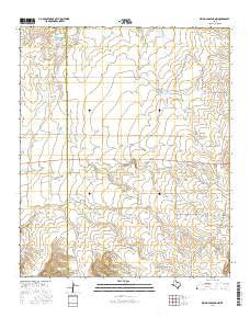 Reynolds Bend NW Texas Current topographic map, 1:24000 scale, 7.5 X 7.5 Minute, Year 2016