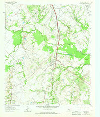 Richland Texas Historical topographic map, 1:24000 scale, 7.5 X 7.5 Minute, Year 1963
