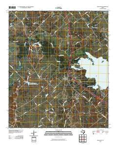 Richland Texas Historical topographic map, 1:24000 scale, 7.5 X 7.5 Minute, Year 2010