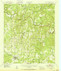 Richland Springs Texas Historical topographic map, 1:62500 scale, 15 X 15 Minute, Year 1950