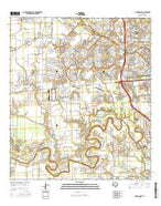 Richmond NE Texas Current topographic map, 1:24000 scale, 7.5 X 7.5 Minute, Year 2016 from Texas Map Store