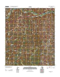 Roosevelt Texas Historical topographic map, 1:24000 scale, 7.5 X 7.5 Minute, Year 2012