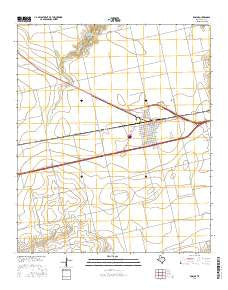 Roscoe Texas Current topographic map, 1:24000 scale, 7.5 X 7.5 Minute, Year 2016