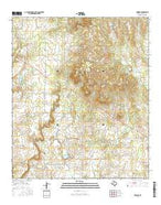 Rowden Texas Current topographic map, 1:24000 scale, 7.5 X 7.5 Minute, Year 2016 from Texas Map Store