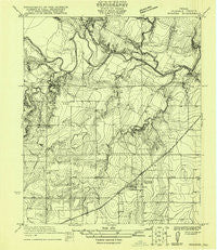 Rowena Texas Historical topographic map, 1:31680 scale, 7.5 X 7.5 Minute, Year 1921