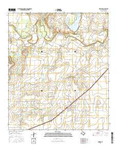 Rowena Texas Current topographic map, 1:24000 scale, 7.5 X 7.5 Minute, Year 2016