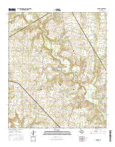 Rucker Texas Current topographic map, 1:24000 scale, 7.5 X 7.5 Minute, Year 2016