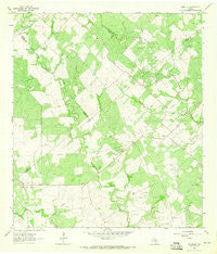 Runge SE Texas Historical topographic map, 1:24000 scale, 7.5 X 7.5 Minute, Year 1963