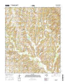 Salona Texas Current topographic map, 1:24000 scale, 7.5 X 7.5 Minute, Year 2016