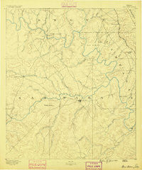 San Saba Texas Historical topographic map, 1:125000 scale, 30 X 30 Minute, Year 1885