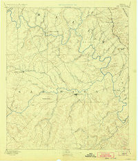 San Saba Texas Historical topographic map, 1:125000 scale, 30 X 30 Minute, Year 1894