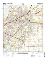 San Angelo South Texas Current topographic map, 1:24000 scale, 7.5 X 7.5 Minute, Year 2016