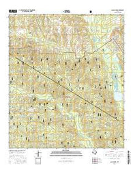 San Jacinto Texas Current topographic map, 1:24000 scale, 7.5 X 7.5 Minute, Year 2016