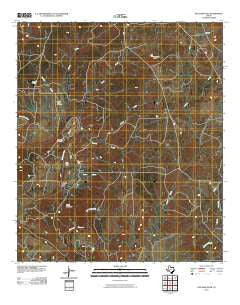 San Saba Peak Texas Historical topographic map, 1:24000 scale, 7.5 X 7.5 Minute, Year 2010
