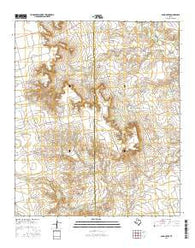 Sand Creek Texas Current topographic map, 1:24000 scale, 7.5 X 7.5 Minute, Year 2016
