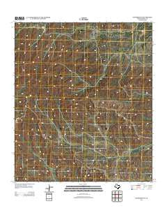 Sanderson NE Texas Historical topographic map, 1:24000 scale, 7.5 X 7.5 Minute, Year 2012