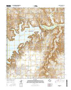 Sanford Texas Current topographic map, 1:24000 scale, 7.5 X 7.5 Minute, Year 2016