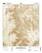 Schneeman Draw SW Texas Current topographic map, 1:24000 scale, 7.5 X 7.5 Minute, Year 2016 from Texas Map Store