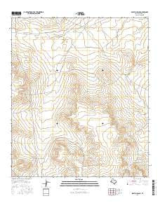 Scratch Ranch Texas Current topographic map, 1:24000 scale, 7.5 X 7.5 Minute, Year 2016
