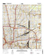 Settegast Texas Current topographic map, 1:24000 scale, 7.5 X 7.5 Minute, Year 2016 from Texas Map Store