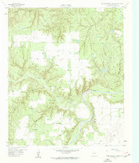 Seven Diamond L Canyon Texas Historical topographic map, 1:24000 scale, 7.5 X 7.5 Minute, Year 1958