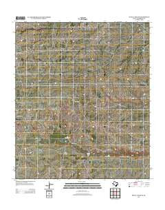 Seven L Peak NE Texas Historical topographic map, 1:24000 scale, 7.5 X 7.5 Minute, Year 2012