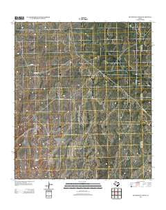 Sevenmile Canyon Texas Historical topographic map, 1:24000 scale, 7.5 X 7.5 Minute, Year 2012