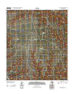 Sheffield SE Texas Historical topographic map, 1:24000 scale, 7.5 X 7.5 Minute, Year 2012
