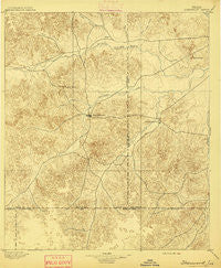 Sherwood Texas Historical topographic map, 1:125000 scale, 30 X 30 Minute, Year 1895