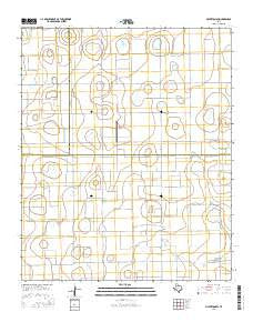 Silverton SW Texas Current topographic map, 1:24000 scale, 7.5 X 7.5 Minute, Year 2016