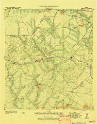 Smiley Texas Historical topographic map, 1:125000 scale, 30 X 30 Minute, Year 1920