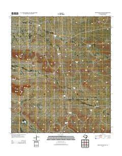 Sneed Mountain Texas Historical topographic map, 1:24000 scale, 7.5 X 7.5 Minute, Year 2012