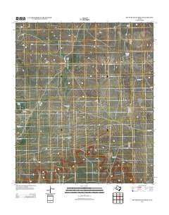 South Mustang Draw SE Texas Historical topographic map, 1:24000 scale, 7.5 X 7.5 Minute, Year 2012