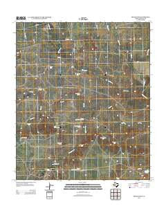 Spade Ranch Texas Historical topographic map, 1:24000 scale, 7.5 X 7.5 Minute, Year 2012