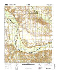 Spanish Fort Texas Current topographic map, 1:24000 scale, 7.5 X 7.5 Minute, Year 2016