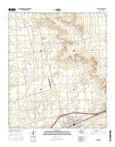 Stanton Texas Current topographic map, 1:24000 scale, 7.5 X 7.5 Minute, Year 2016