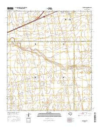 Stanton SE Texas Current topographic map, 1:24000 scale, 7.5 X 7.5 Minute, Year 2016