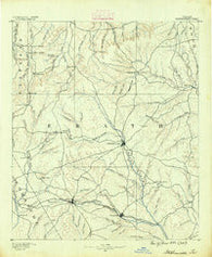 Stephenville Texas Historical topographic map, 1:125000 scale, 30 X 30 Minute, Year 1890