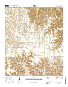 Sterling City NW Texas Current topographic map, 1:24000 scale, 7.5 X 7.5 Minute, Year 2016