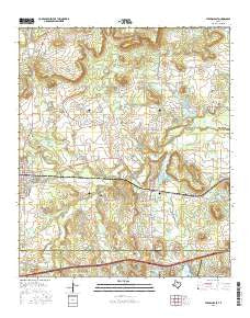 Strawn East Texas Current topographic map, 1:24000 scale, 7.5 X 7.5 Minute, Year 2016