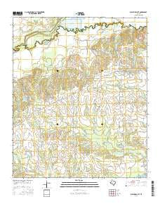 Sulphur Bluff Texas Current topographic map, 1:24000 scale, 7.5 X 7.5 Minute, Year 2016