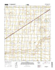 Summerfield Texas Current topographic map, 1:24000 scale, 7.5 X 7.5 Minute, Year 2016