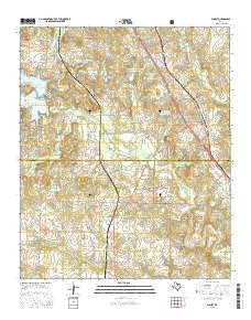 Sunset Texas Current topographic map, 1:24000 scale, 7.5 X 7.5 Minute, Year 2016