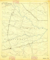 Taylor Texas Historical topographic map, 1:125000 scale, 30 X 30 Minute, Year 1885
