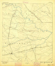 Taylor Texas Historical topographic map, 1:125000 scale, 30 X 30 Minute, Year 1887