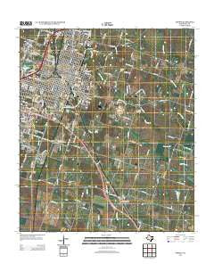 Temple Texas Historical topographic map, 1:24000 scale, 7.5 X 7.5 Minute, Year 2012
