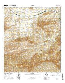 Tesnus Texas Current topographic map, 1:24000 scale, 7.5 X 7.5 Minute, Year 2016
