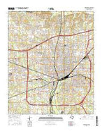 Texarkana Texas Current topographic map, 1:24000 scale, 7.5 X 7.5 Minute, Year 2016 from Texas Map Store